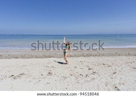 Young woman on the beach - Punta Leona, Costa Rica