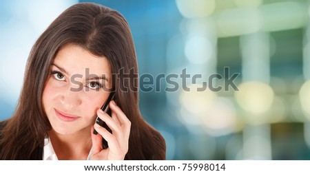 Young woman on the phone - stock photo