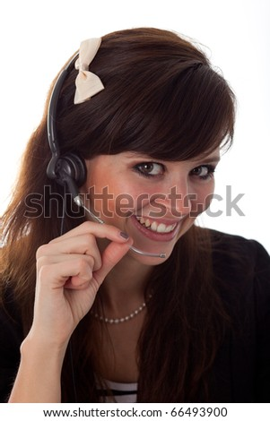 Young woman on the phone in the office 9744