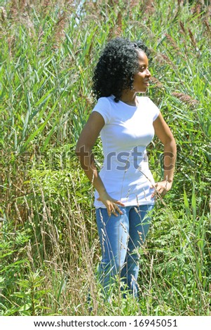 Young woman outdoors in summer