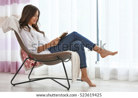 Reading chairs stock images royalty free images vectors for Sitting easy chairs