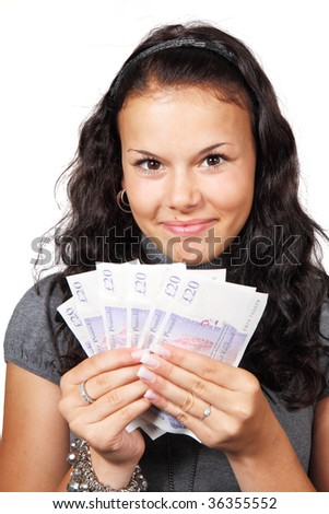 young woman ready to go shopping - stock photo