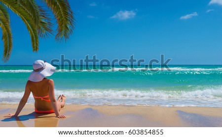 Young woman relax on the beach