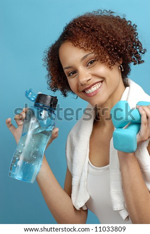 Young woman relaxing after a healthy, invigorating workout