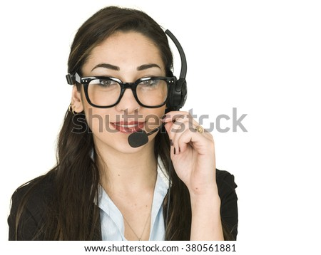 Young Woman Sales and Marketing Business - stock photo