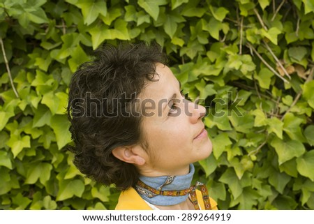 Young woman seen - stock photo