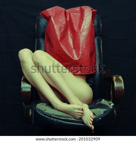 Young woman sexual slave - stock photo