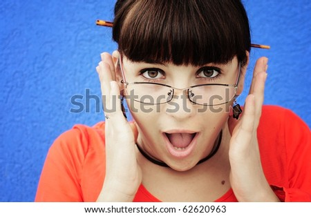 Young woman shocked