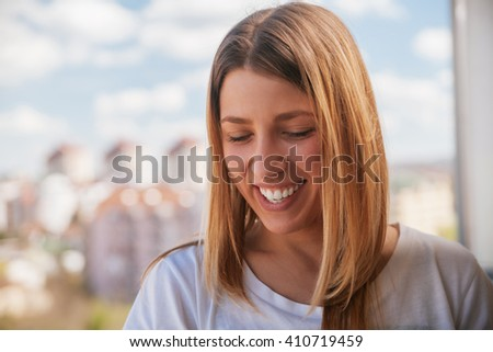 Young Woman Smiling - stock photo