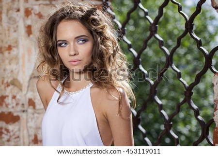 young woman summer portrait