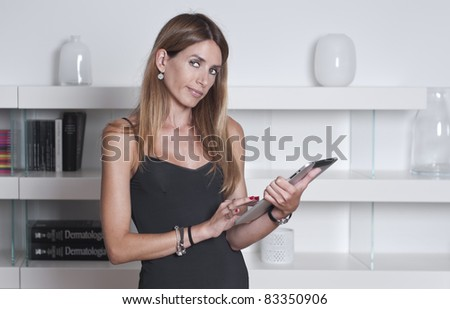 Young woman using a tablet