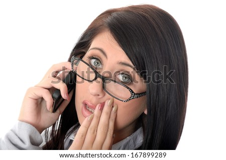 Young Woman Using Mobile Telephone