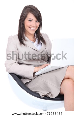 Young woman waiting for an interview - stock photo