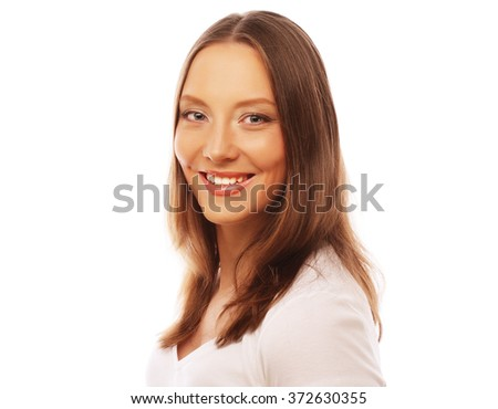 young woman wearing white t-shirt