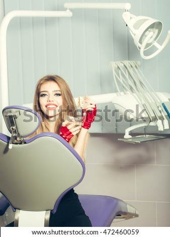 Rapid Plans For Date Women Online stock photo young woman with beautiful smile in dental office beauty and healthcare medical 472460059