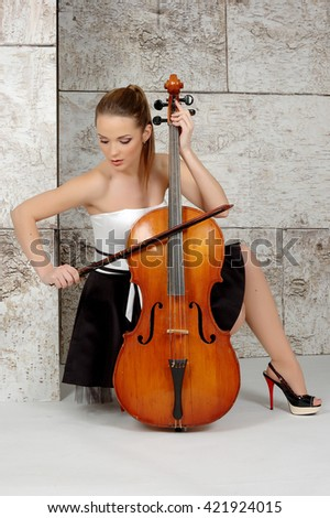 Young woman with cello