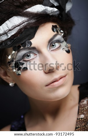 young woman with creative make up
