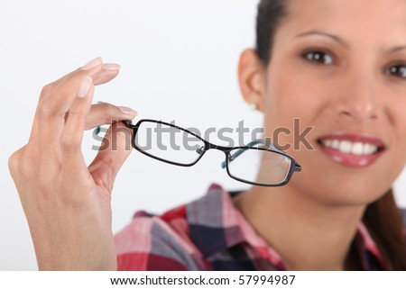 Young woman with eyeglasses
