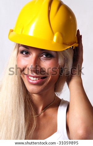 Young woman worker engineer - stock photo