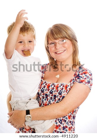 young women and child. - stock photo