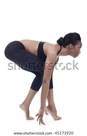 young women practicing movement - stock photo
