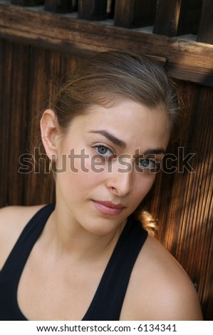 Young women relaxing after yoga exercise - stock photo