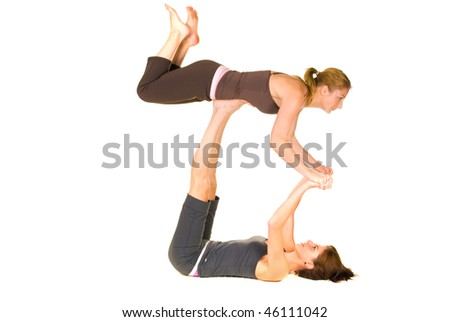Young women training with each other