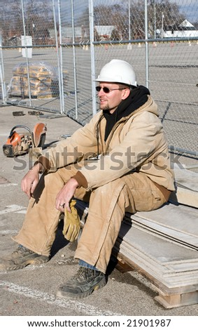 Young Worker at Rest - stock photo