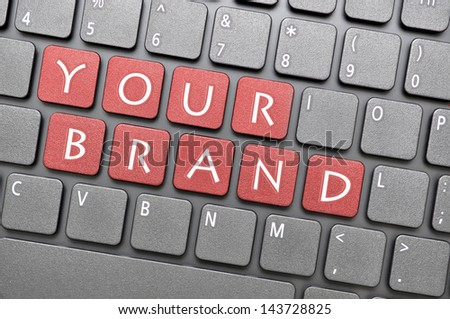Your brand on keyboard - stock photo