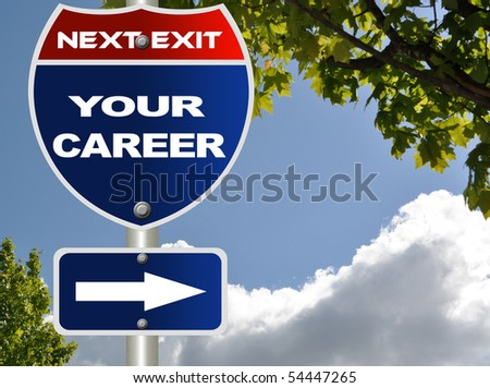 Your career road sign - stock photo