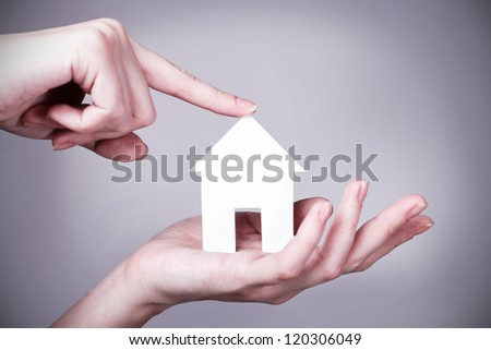 your dream home in the form of future goals for your plans - stock photo