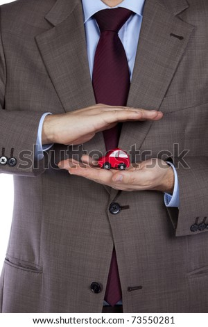 Your professional car insurance solution for the best protection - stock photo