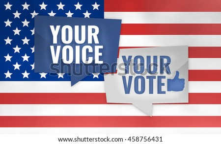 Your Voice Your Vote  3D Render USA Design