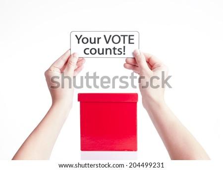 your vote counts, election concept - stock photo