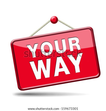 your way - stock photo