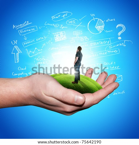 Your world. Conceptual image. - stock photo