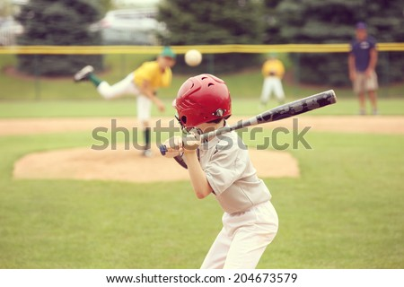 Youth Baseball game - stock photo