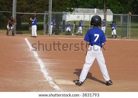 Youth Boys Baseball Player - stock photo
