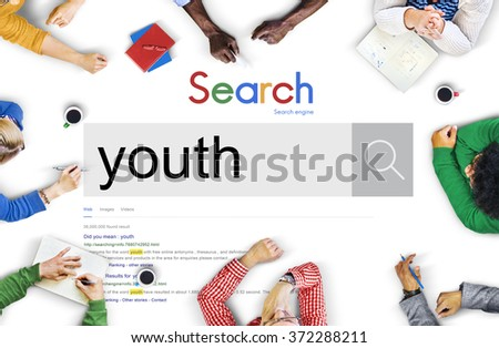 Youth Culture Young Adult Generation Lifestyle Concept - stock photo