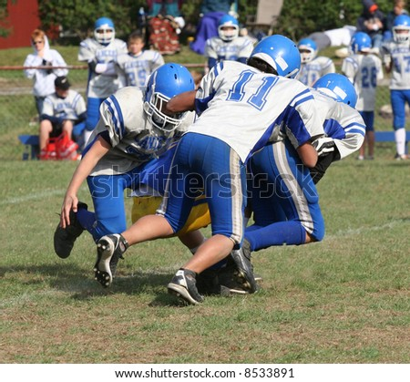 Youth Football Play - stock photo