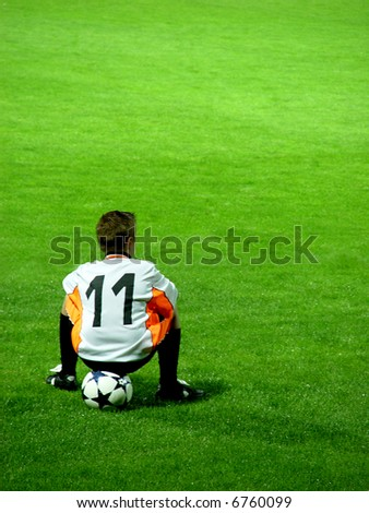 Youth Soccer Player - stock photo