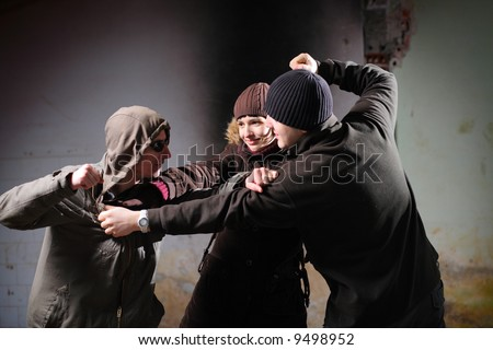 Youth violence - stock photo