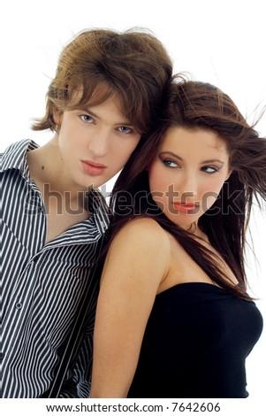 Ypung couple - stock photo