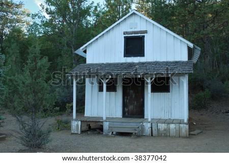 Yreka Assay Office (Ghost Town) - stock photo