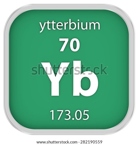 Ytterbium material on the periodic table. Part of a series. - stock photo