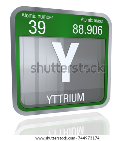 Yttrium symbol square shape metallic border stock illustration yttrium symbol in square shape with metallic border and transparent background with reflection on the floor urtaz Images