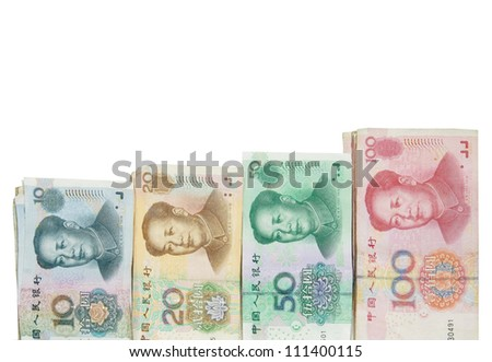 Yuan bills - stock photo