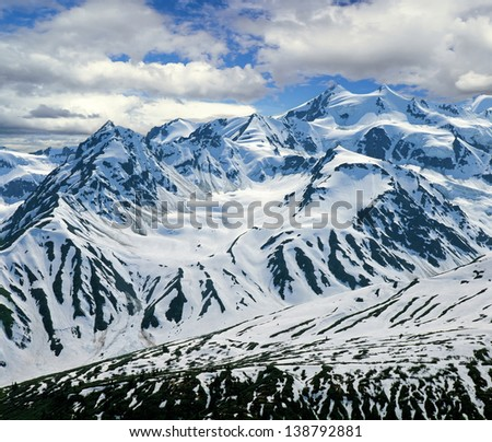 Yukon - St.Elias Mountains in Canada (Yukon Territories) - stock photo
