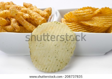 Yummy delicious chips - stock photo