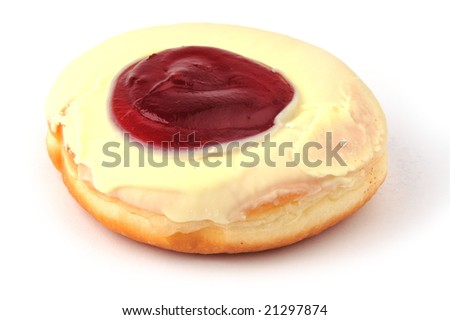 yummy donut with strawberry topping